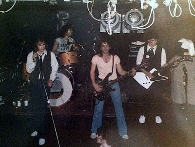 Nasty Lass on stage at The Towpath rock club 1979
