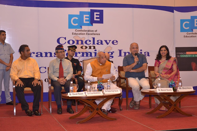 Deputy Chief Minister Sh Manish Sisodia and Governor of Haryana Shri Kaptaan Singh Solanki attended the Confederation of Education Excellence's (CEE) Conclave on  TRANSFORMING INDIA THROUGH CIVIC EDUCATION 2017 in Delhi