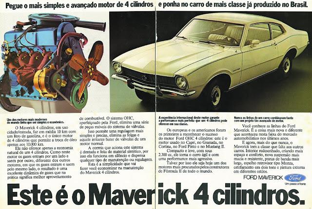 Propaganda na metade dos anos 70 para promover o Ford Maverick