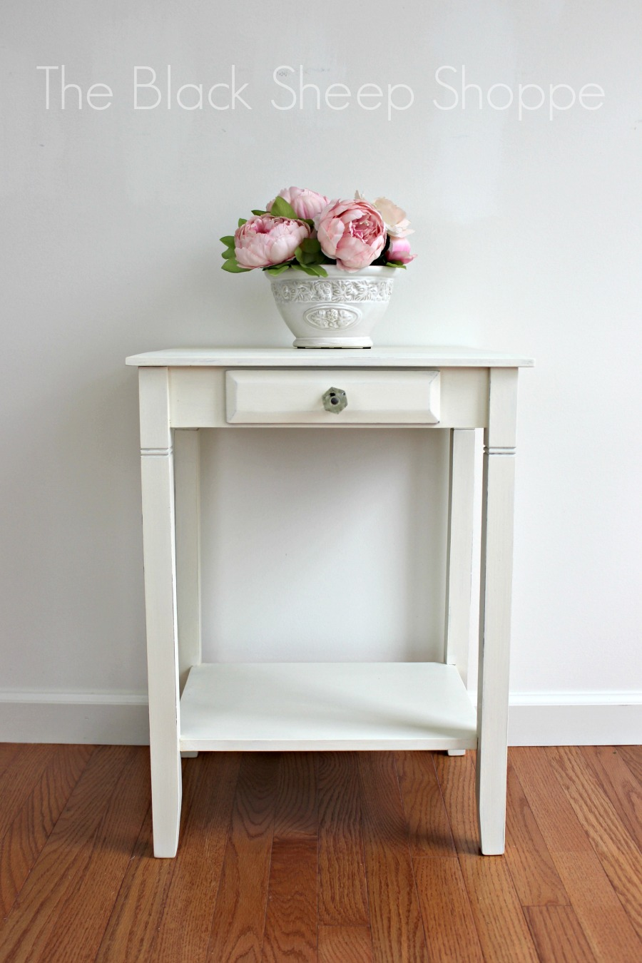 Nightstand painted in Old White.