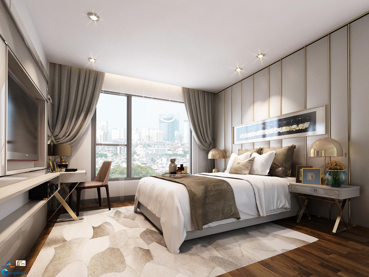 Gợi ý thiết kế phòng ngủ master Gem Riverside căn 80m2