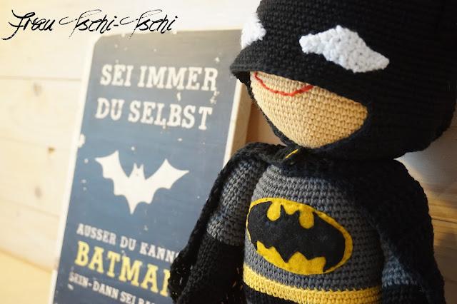 Amigurumi Anleitung Kostenlos Batman : Frau Tschi-Tschi: Batman - Amigurumi - Anleitung kostenlos