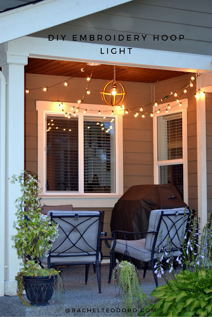back patio lighting, thrift store challenge,