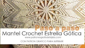 Mantel Redondo Crochet Estrella Gótica / Paso a paso DIY