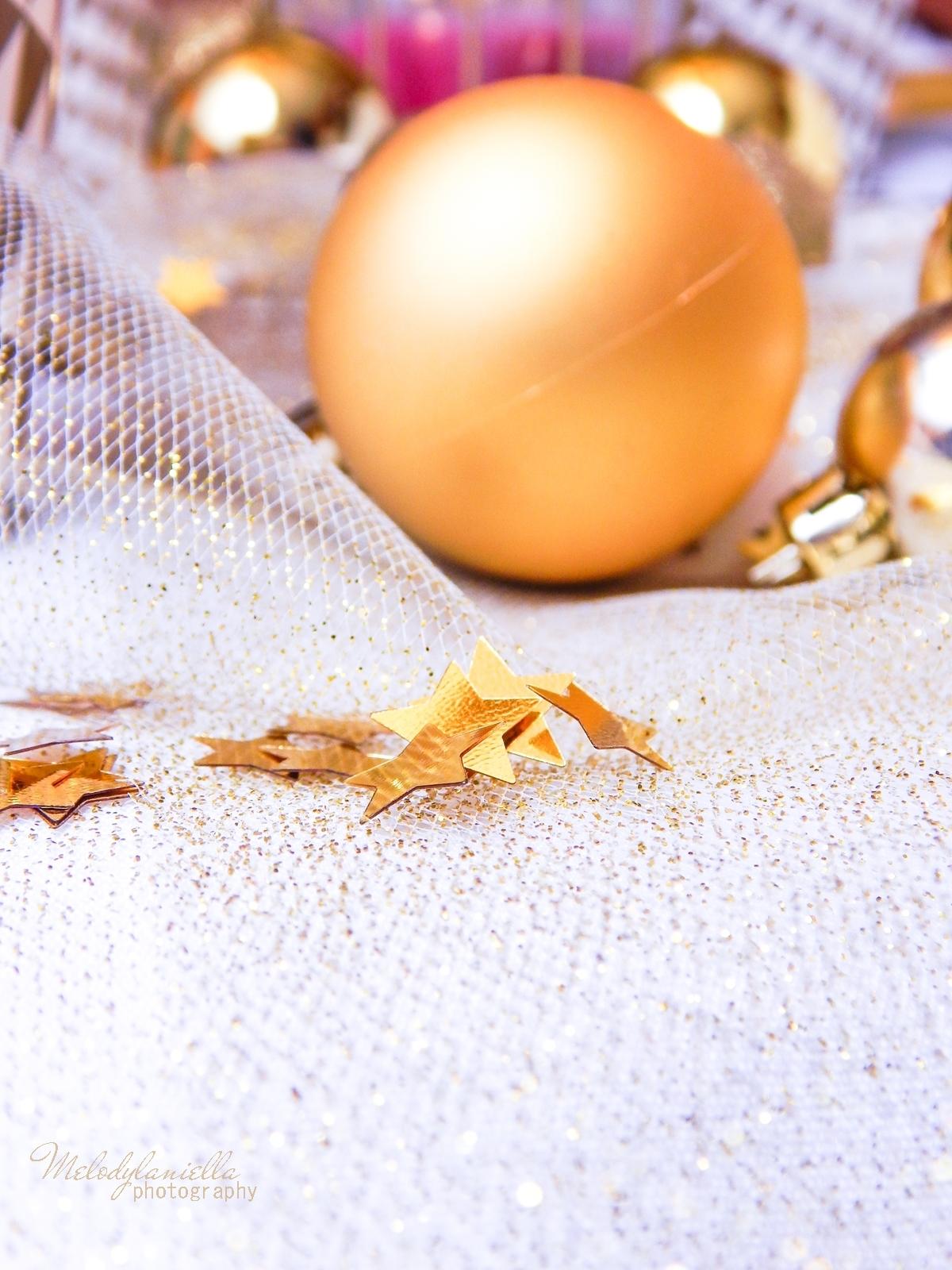 16 confetti partybox wstązki do dekoracji melodylaniella imprezowy stół złote dodatki do mieszkania do domu
