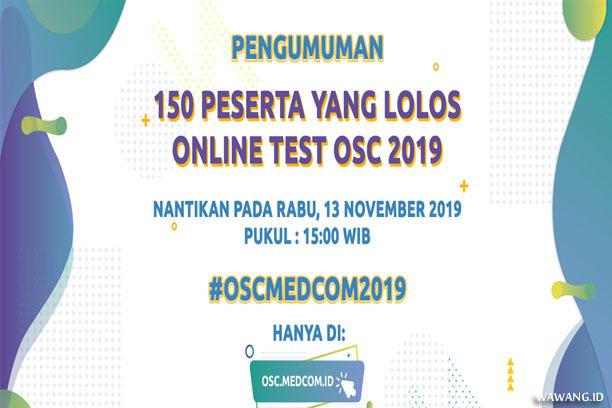 Pengumuman Tes Online OSC Medcom 2019