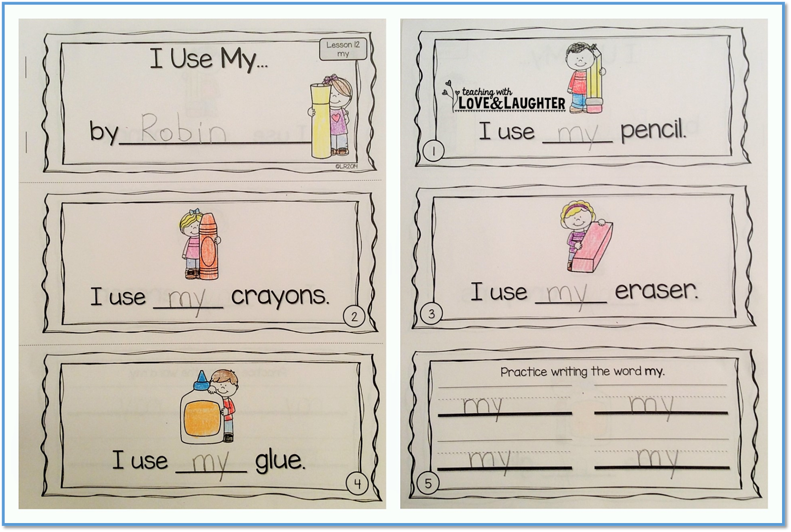 Teaching With Love And Laughter Sight Word Sentence Booklets