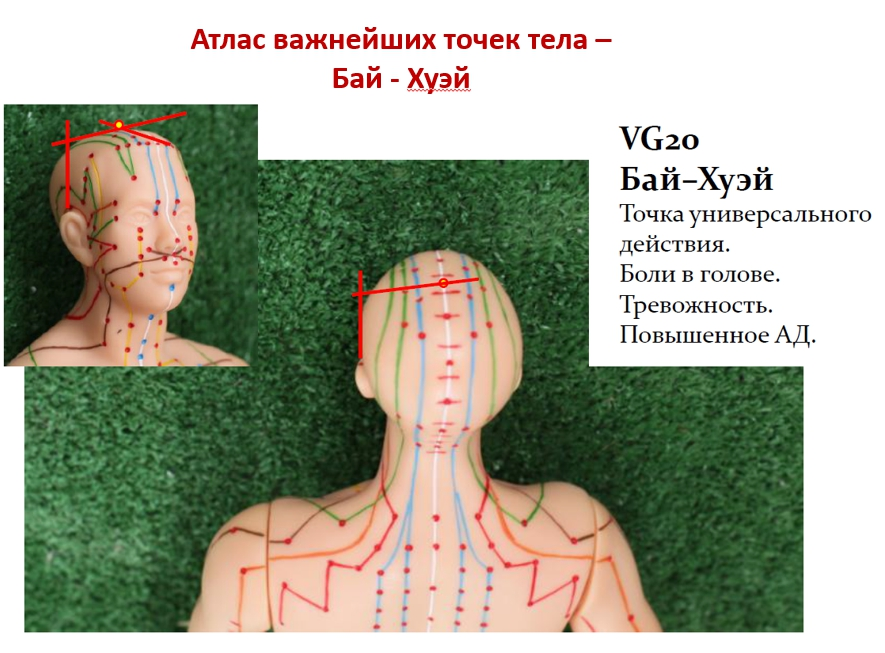 Точки на теле человека для усыпления