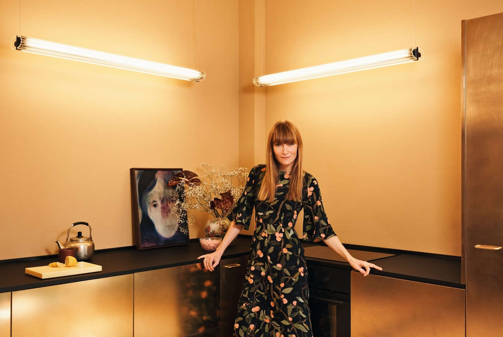 The incredible gold kitchen of fashion designer, Stine Goya | A ...