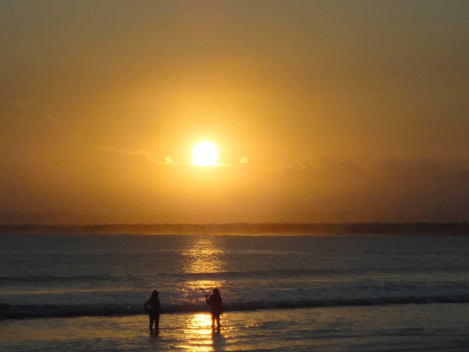 Sunset Pantai Barat Pangandaran