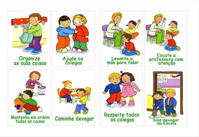 regras de boa convivência na escola