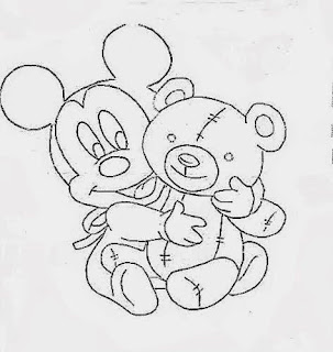 risco do mickey baby para pintar