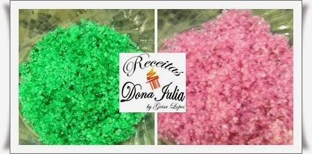 """""""Açúcar colorido feito em casa"""""""