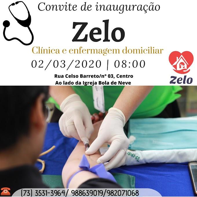 Convite: Inauguração da Zelo Clínica e Enfermagem Domiciliar