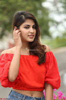 Rhea Chakraborty in Red Crop Top and Denim Shorts Spicy Pics ~  Exclusive 079.JPG