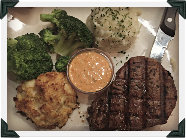 Filet Mignon and Crabcakes at BoneFish Grill