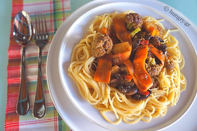 Σπαγγέτι με Λαχανικά