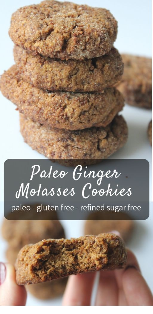 Paleo Ginger Molasses Cookies
