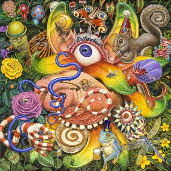 Thomas Gieseke pinturas surreais arte cores lisérgicas