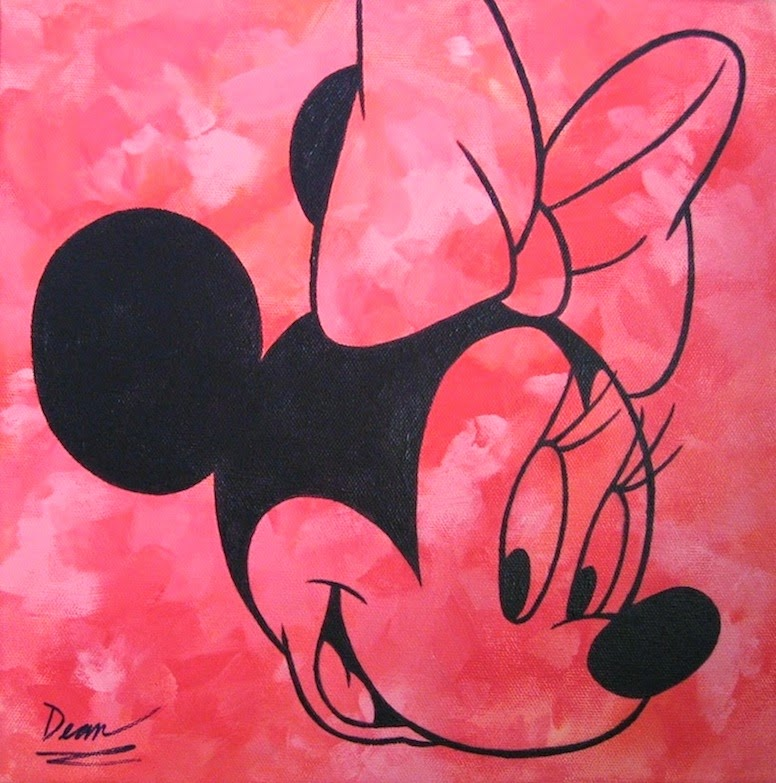 Exploding Doughnut Abstract Minnie Mouse
