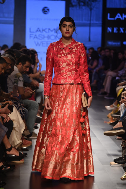 Actress Radhika Apte walked for Sailesh Singhania AT LAKME FASHION WEEK W|F 2017