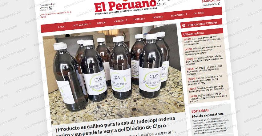 CDS-DIÓXIDO DE CLORO: Ordenan retiro y suspenden la venta por ser producto dañino para la salud