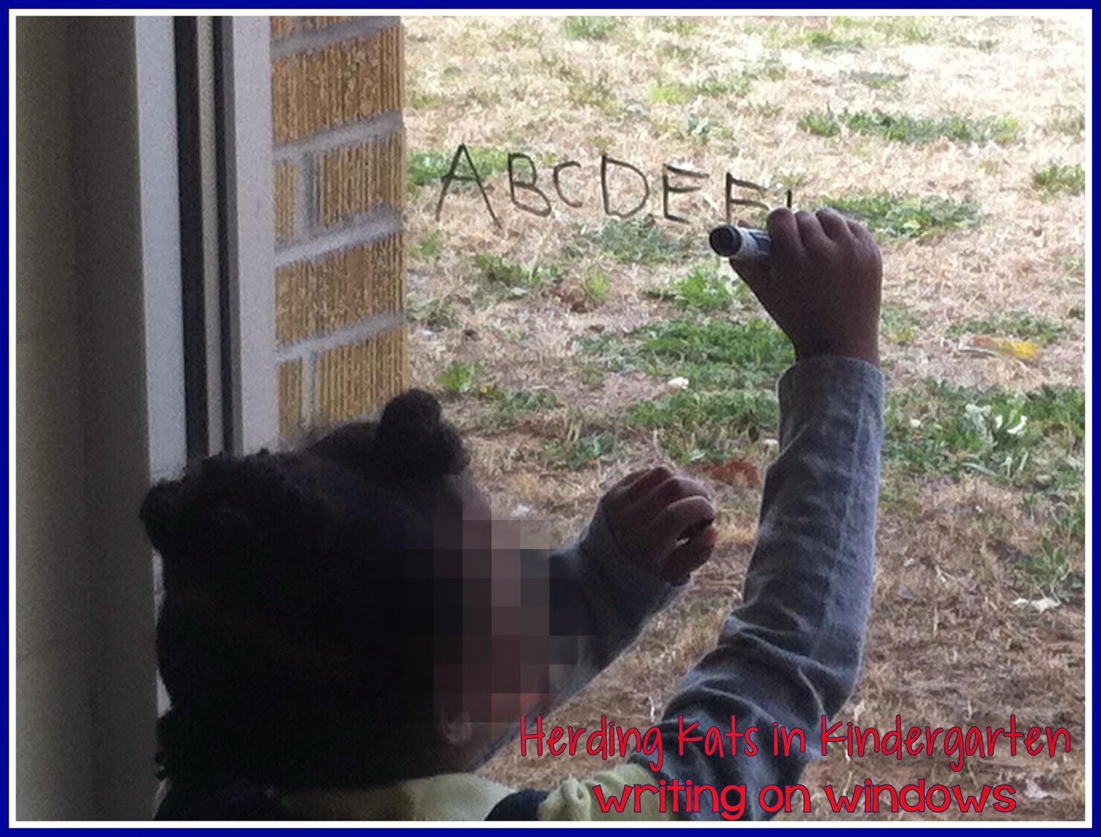 Herding Kats In Kindergarten Writing On Windows