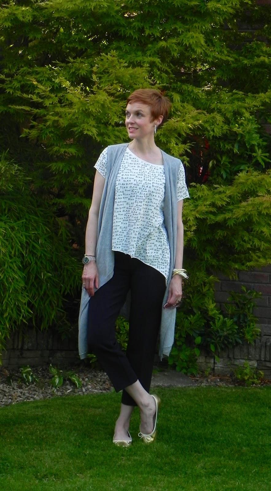 Layering | Knitted grey marl waistcoat