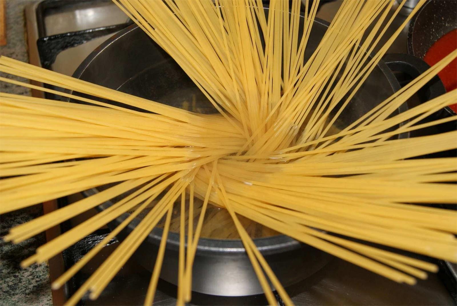Spaguetti a la Bellini paso 1