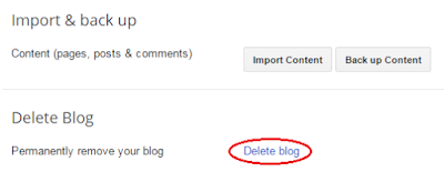 how to delete a blogger blog permanantly