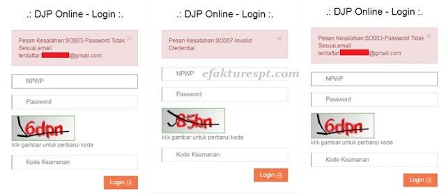 error DJP Online