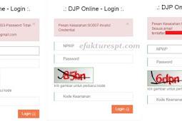 Kode Error DJP Online Beserta Solusinya