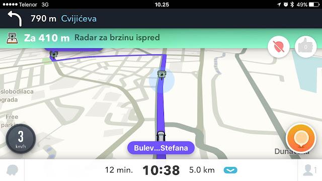 Најава радара за контролу брзине