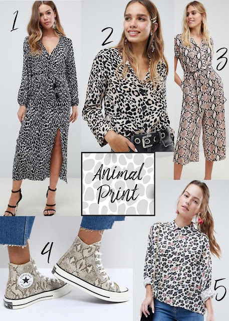 animal print leopard print snake print zebra print converse trainers shirt blouse dress midi dress ASOS