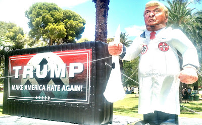 Donald Trump KKK inflatable inflatible protest Phoenix Arizona