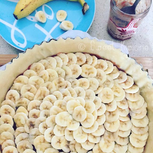 sweet Kwisine, tarte, banane, cuisine antillaise, confiture, banana, banane de Martinique, Guadeloupe, Délices de Guyane