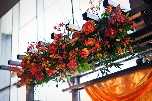 Harley Davidson Wedding: Bank Of Flowers: Harley Davidson Museum Wedding