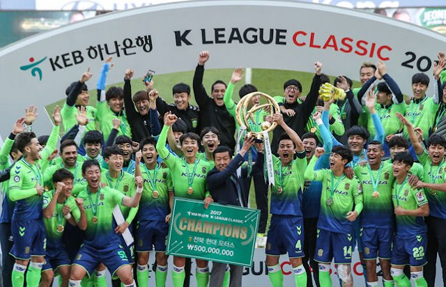 Jeonbuk Hyundai Motors are the 2017 K League Classic Champions