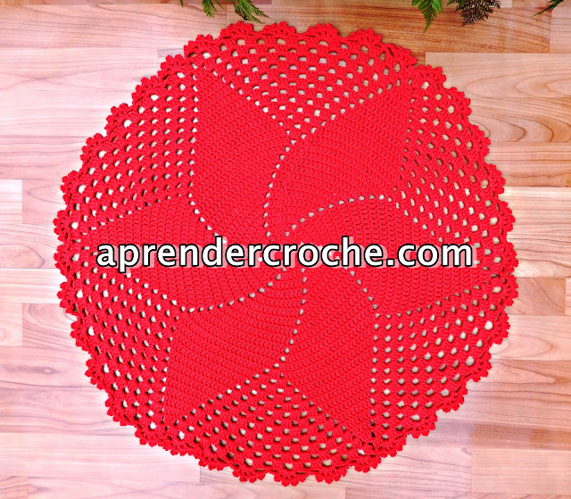 aprender croche curso de croche edinir-croche tapete de crochê natal sala casa decoração