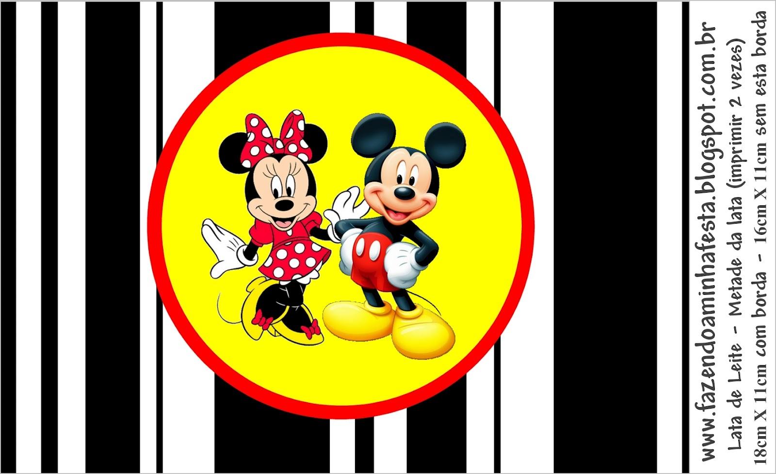 Imprimibles De Minnie Y Mickey 4.