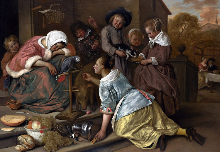 Jan Steen - The Effects of Intemperance (c.1663-65)