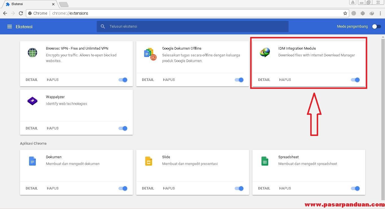 7 Langkah Menambahkan Ekstensi/Plugin IDM di Google Chrome