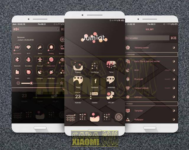 MIUI Theme ICE V2 Mtz Update Tema Xiaomi Terbaru 2018 With Centered Clock[Jam di Tengah]