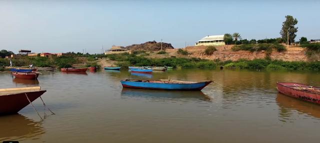صور  السودان - خزان جبل اوليا - زوارق على النيل الابيض