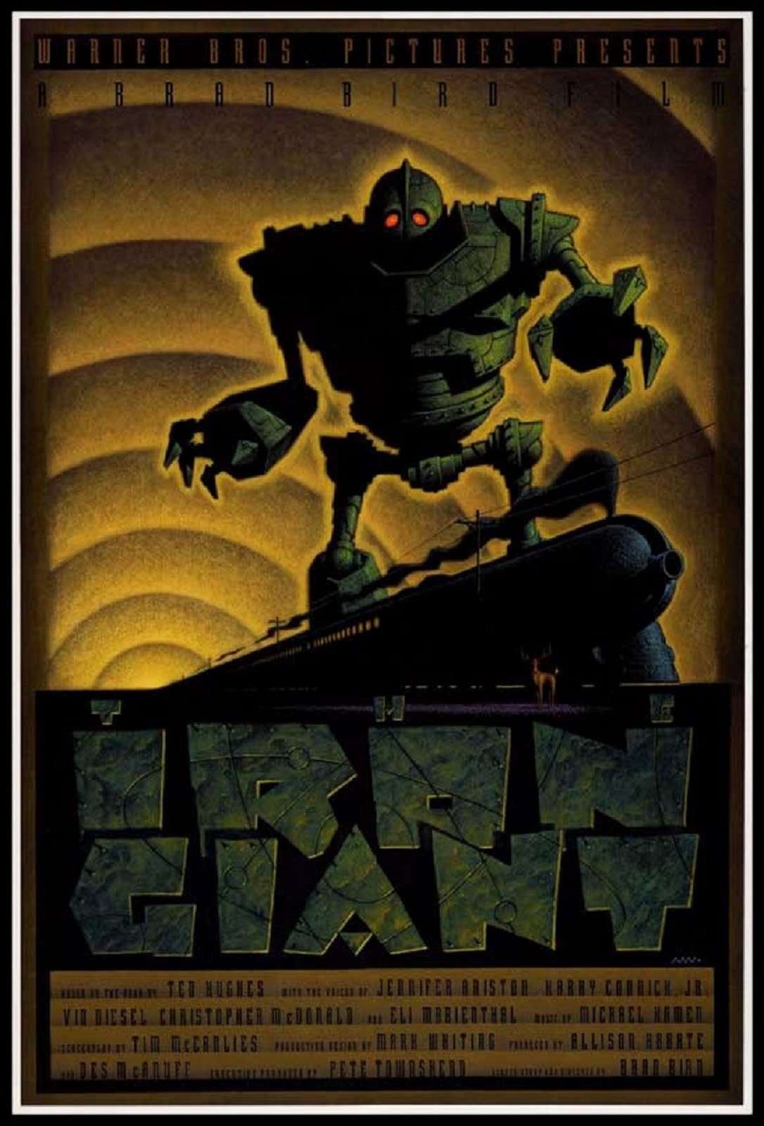 Kevin Moore August >> The Geeky Nerfherder: Movie Poster Art: The Iron Giant (1999)