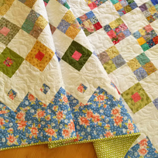 Spring Garden quilt: QuiltBee