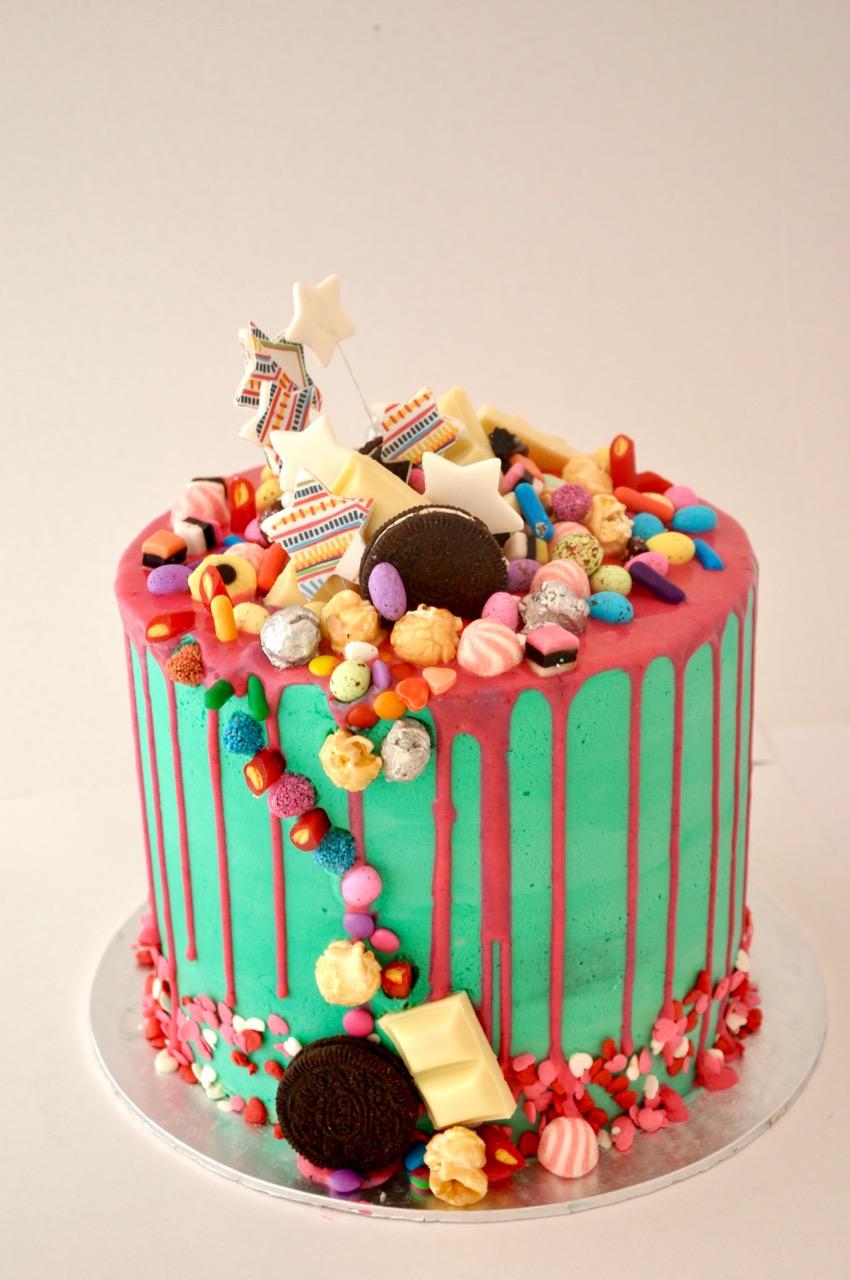 Amazing Rozannes Cakes Candy Crazy Cake Personalised Birthday Cards Veneteletsinfo