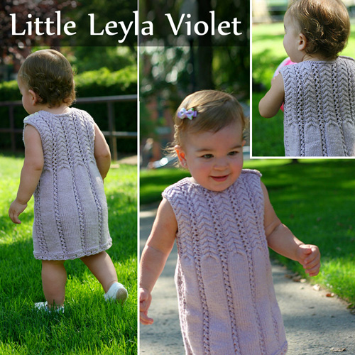 Little Leyla Violet - knit Pattern