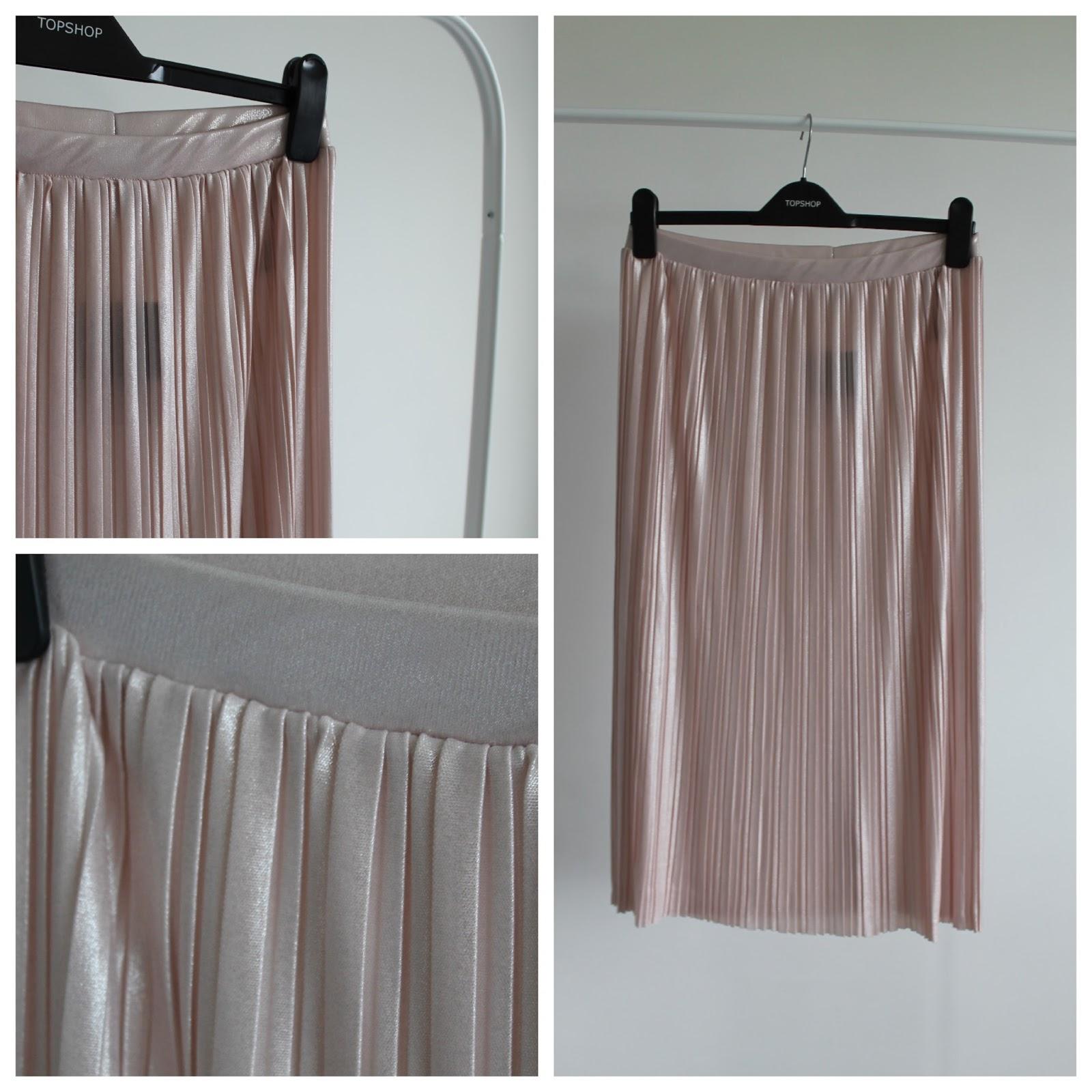 ca1d0aabc5 Topshop Metallic Jersey Pleated Skirt