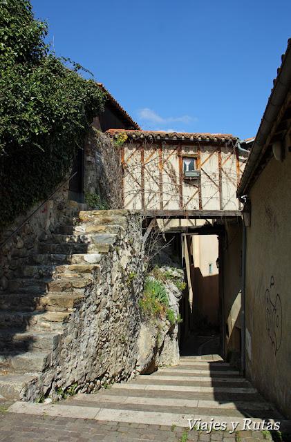 Subida al castillo de Foix